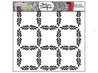 Clearance The Crafters Workshop Template: The Crafter's Workshop Template 12 x 12 in. Leaf Grid