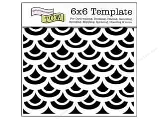 scrapbooking & paper crafts: The Crafter's Workshop Template 6 x 6 in. Fish Scales