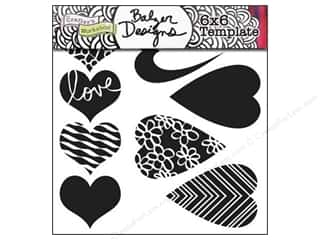 Clearance The Crafters Workshop Template: The Crafter's Workshop Template 6 x 6 in. Mix & Match Hearts