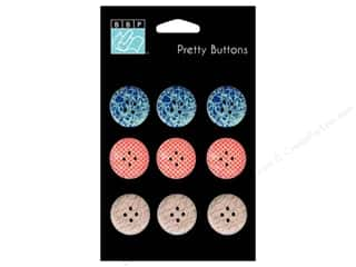 Bazzill embellishment: Bazzill Pretty Buttons 9 pc. Wayfarer