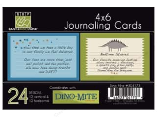 Clearance Bazzill Lickety Slip Journaling Cards: Bazzill Lickety Slip Journaling Cards 4 x 6 in. Dino-Mite 24 pc.