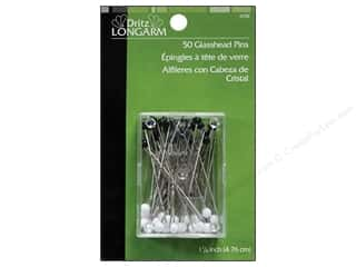 sewing & quilting: Glasshead Pins by Dritz Longarm 50pc.