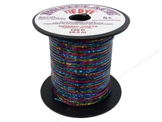 beading & jewelry making supplies: Pepperell Rexlace Craft Lace 100 ft. Tye-Dye Clear Blue