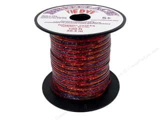Clearance Pepperell Silkies Bands: Pepperell Rexlace Craft Lace 100 ft. Tye-Dye Clear Red
