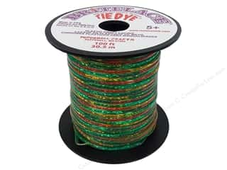 beading & jewelry making supplies: Pepperell Rexlace Craft Lace 100 ft. Tye-Dye Clear Green