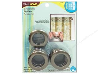 dritz curtain grommets: Dritz Home Curtain Grommets 1 in. Round Antique Gold 8pc
