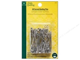 sewing safety pins: Curved Basting Pins by Dritz Quilting 2 in. Nickle 40pc