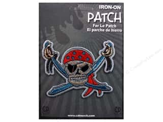 Clearance C&D Visionary Patches: C&D Visionary Applique Pirates Pirate Skull