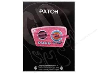 Clearance C&D Visionary Patches: C&D Visionary Applique 50's Retro Pink Radio