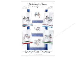 Yesterday's Charm Snow Fun Towels Iron On Pattern