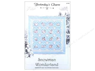 Winter Wonderland Snow Texture: Yesterday's Charm Snowman Wonderland Pattern