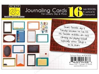 Orange Peel Bazzill Cardstock: Bazzill Lickety Slip Journaling Cards 4 x 6 in. School Days 16 pc.