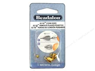 Cap  Findings / Spacer Findings: Beadalon EZ-Tie Cone Ends 2 pc. Gold Color
