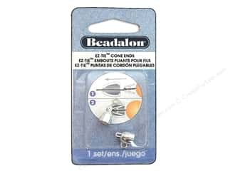 Cap  Findings / Spacer Findings: Beadalon EZ-Tie Cone Ends 2 pc. Silver Plated