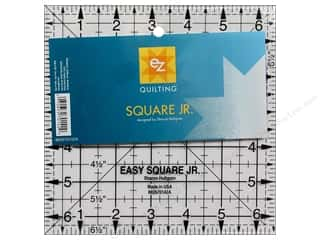 rotary cutter: EZ Quilting Easy Square Jr. Acrylic Ruler 6 1/2 in.
