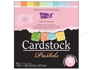 Cardstock: Coredinations Cardstock Pack 12 x 12 in. ColorCore Pastels