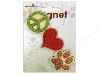 Clearance Paper House Magnet: Paper House Magnet 3D Peace Love Paw