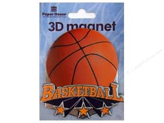 Clearance Paper House Magnet: Paper House Magnet 3D Basketball