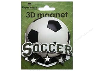 Clearance Paper House Magnet: Paper House Magnet 3D Soccer