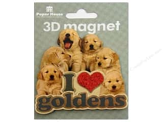 Clearance Paper House Magnet: Paper House Magnet 3D I Love Goldens