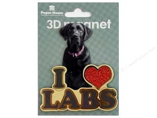 Clearance Paper House Magnet: Paper House Magnet 3D I Love Labs