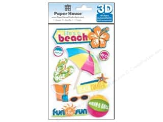 scrapbooking & paper crafts: Paper House 3D Stickers - Life's A Beach