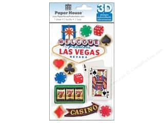 scrapbooking & paper crafts: Paper House Sticker 3D Las Vegas