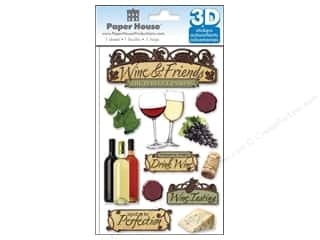 stickers: Paper House Sticker 3D Wine