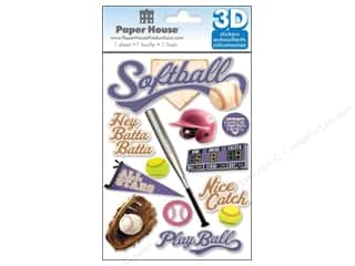 stickers: Paper House Sticker 3D Softball