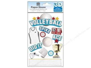 stickers: Paper House Sticker 3D Volleyball
