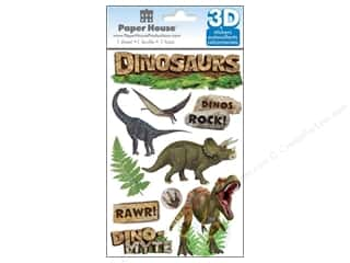 scrapbooking & paper crafts: Paper House Sticker 3D Dinosaurs