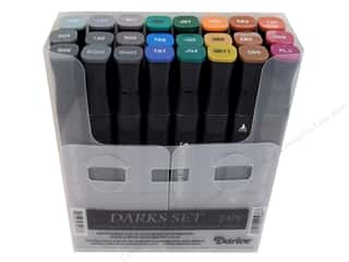 Crafter's Companion: Crafter's Companion Spectrum Noir Pen Set Darks 24pc