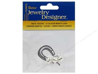 clasps: Darice Jewelry Designer Clasps Magnetic 7x11mm Silver 3pc