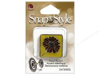 Clearance Cousin Snap In Style Accent: Cousin Snap In Style Accent Metal Square Daisy