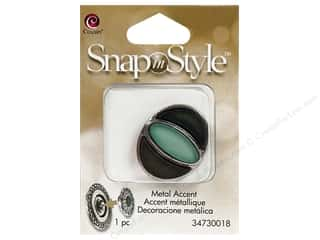 Clearance Cousin Snap In Style Accent: Cousin Snap In Style Accent Metal Eye Teal