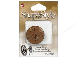 Clearance Cousin Snap In Style Accent: Cousin Snap In Style Accent Metal Leaf Brown