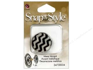 beading & jewelry making supplies: Cousin Snap In Style Accent Metal Zig Zag
