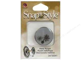 Clearance Cousin Snap In Style Accent: Cousin Snap In Style Accent Metal Flower Grey