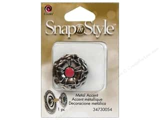 Clearance Cousin Snap In Style Accent: Cousin Snap In Style Accent Metal Flower Pink