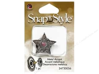 Clearance Cousin Snap In Style Accent: Cousin Snap In Style Accent Metal Star Pink