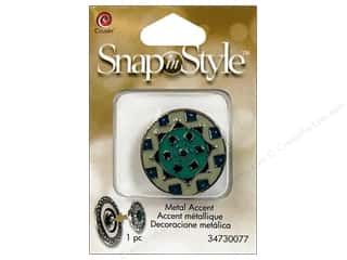 beading & jewelry making supplies: Cousin Snap In Style Accent Metal Geometric 1