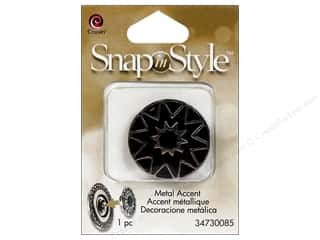 Clearance Cousin Snap In Style Accent: Cousin Snap In Style Accent Metal Star Black