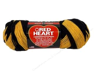 Red Heart Team Spirit Yarn #0936 Gold/Black 244 yd.
