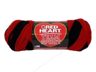 yarn & needlework: Red Heart Team Spirit Yarn #0952 Red/Black 244 yd.