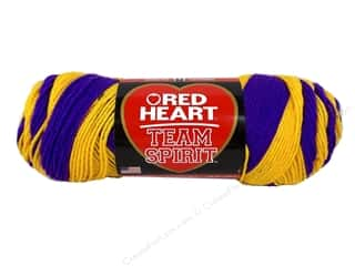 yarn & needlework: Red Heart Team Spirit Yarn #0956 Purple/Gold 244 yd.