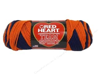 yarn & needlework: Red Heart Team Spirit Yarn #0960 Orange/Navy 244 yd.
