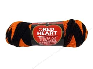 Red Heart Team Spirit Yarn 236 yd. #0972 Orange/Black