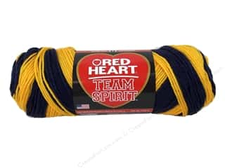 yarn & needlework: Red Heart Team Spirit Yarn 236 yd. #0980 Navy/Gold