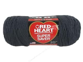 yarn & needlework: Red Heart Super Saver Yarn #3950 Charcoal 364 yd.