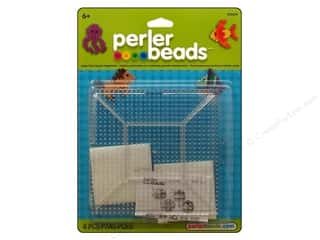 beading & jewelry making supplies: Perler Large Clear Square Pegboards 2 pc.